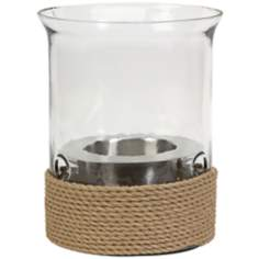 Burke Small Jute Rope Hurricane Lamp