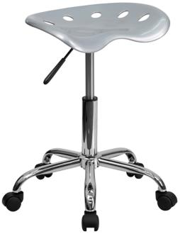 Adjustable Tractor Chrome and Vibrant Silver Stool (2K852) 2K852