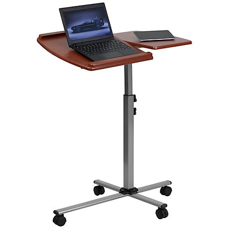 Adjustable Mobile Cherry Laptop Computer Table