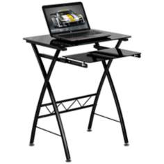 Tempered Glass Black Computer Desk