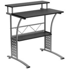 Clifton Steel and Black Computer Desk