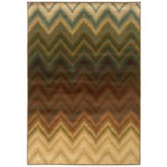 Oriental Weavers Hudson Collection 3458A Chevron Area Rug