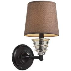 Insulator Glass Oiled Bronze Wall Lamp