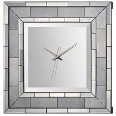 Mandarin Antiqued Mirror Wall Clock