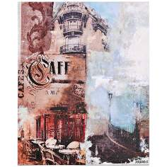 "Memories of Paris I 20"" High Eiffel Tower Wall Art"