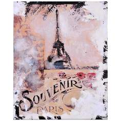 "Memories of Paris IV 20"" High Eiffel Tower Wall Art"