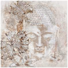 "Meditation 30"" Square Buddha Wall Art"