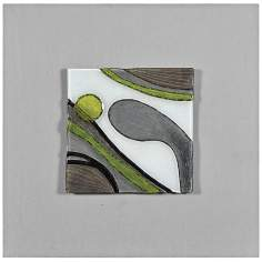 "Motion I 24"" Square Abstract Wall Art"