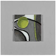 "Motion II 24"" Square Abstract Wall Art"