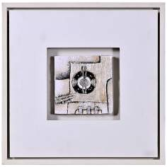 "Kinetic I 16"" Square Modern Wall Art"