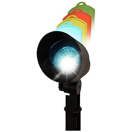 Solar Multi-Color 6000K 1-Watt LED Black Spot Light