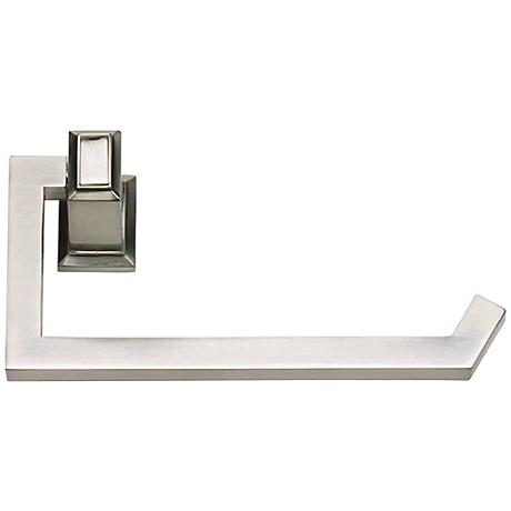 "Sutton Place 6 3/4""W Brushed Nickel Toilet Paper Holder"