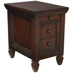 2-Drawer Cherry Chairside Table