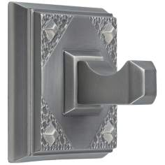 "Craftsman 2 1/4"" Square Pewter Bathroom Hook"