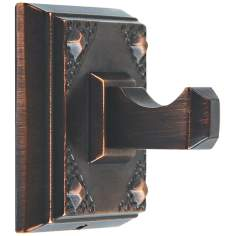 "Craftsman 2 1/4"" Square Bronze Bathroom Hook"
