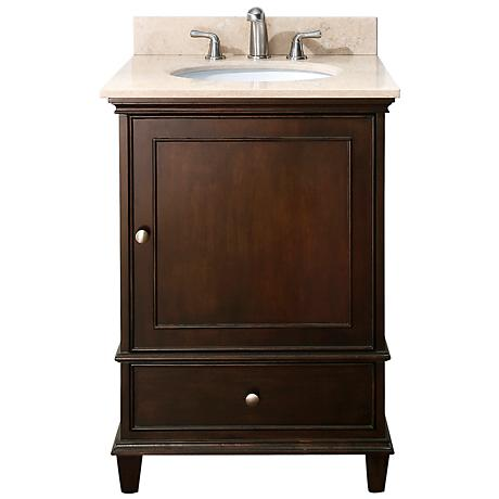 "Avanity Windsor 24"" Wide Walnut Vanity Combo"