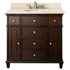 "Avanity Windsor 36"" Wide Walnut Vanity Combo"