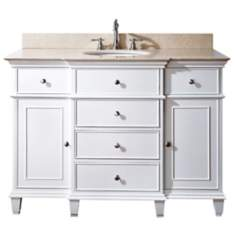 "Avanity Windsor 48"" Wide White Vanity Combo"