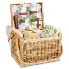 Kabrio Botanica Insulated Wine and Cheese Set Basket
