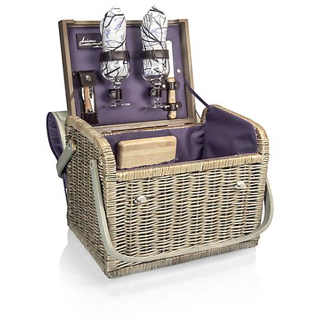Kabrio Aviano Insulated Wine and Cheese Set Basket