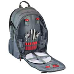 Escape Gray and Red Picnic Service Backpack