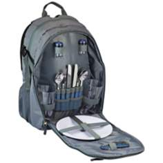 Escape Gray and Navy Picnic Service Backpack