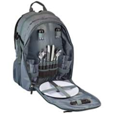 Escape Gray and Black Picnic Service Backpack