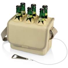 Six-Porter Tan Insulated Beverage Cooler
