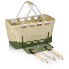 Metro Tan and Olive Green Garden Utility Basket