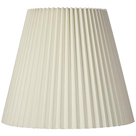 Ivory Pleated Shade 10x17x14.5 (Spider)