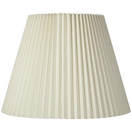 Ivory Pleated Shade 11x19x14.5 (Spider)