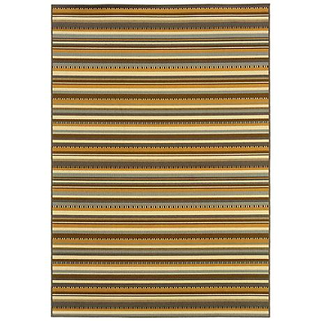 Oriental Weavers Bali 1001J Striped Indoor-Outdoor Rug