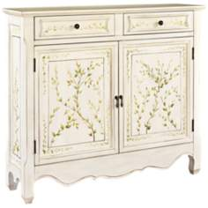 Distressed White Hand Painted Console