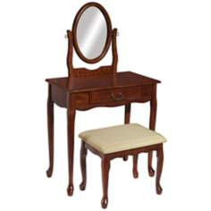Woodland Cherry Vanity, Mirror and Bench