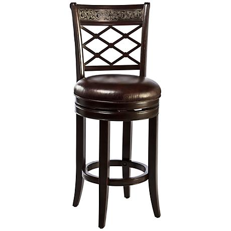 "Spalding Espresso 30"" Swivel Bar Stool"