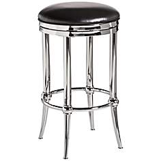 Hillsdale Cadman Shiny Nickel Swivel Counter Stool