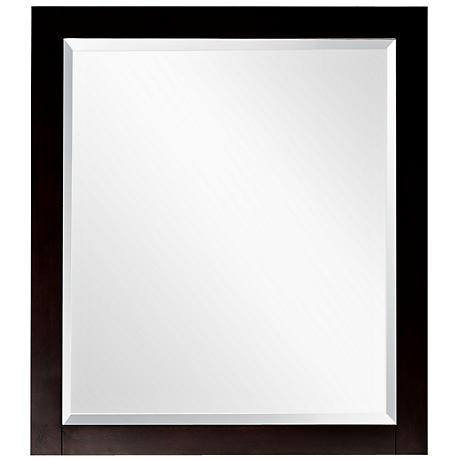 "Avanity Lexington 24"" Wide Espresso Wall Mirror"