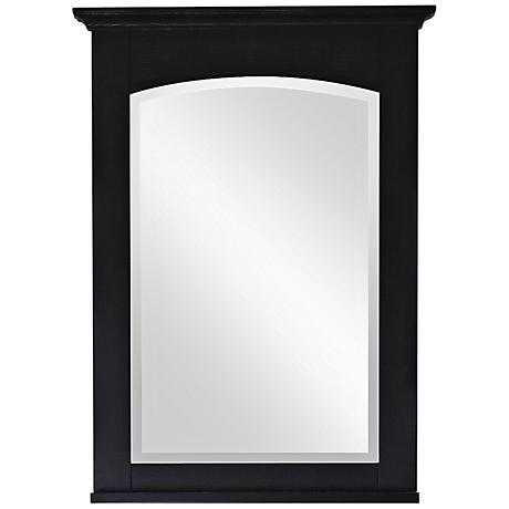 "Avanity Westwood 24"" Wide Ebony Wall Mirror"