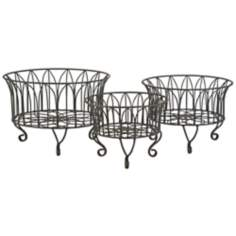 Set of 3 Joycelyn Metal Wire Baskets