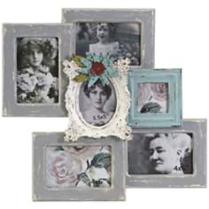Blake Flower 6-Photo Collage Photo Frame