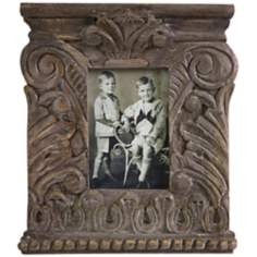 Hamlin Small Carved Wood Photo Frame