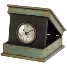 Circus Distressed Green Box Desk Clock
