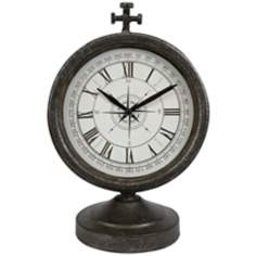 Thomas Wrought Iron Compass Desk Clock