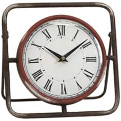 Baron Large Wrought Iron Antique Clock