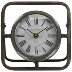 Baron Small Wrought Iron Antique Clock