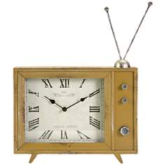 Garrett Retro TV Mustard Table Clock
