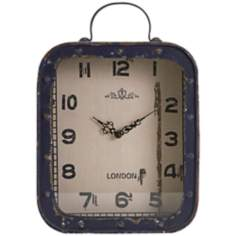 Mandovi Vintage Blue Iron Table Clock