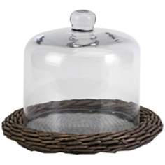 Olivia Willow Base Glass Dome Server