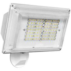 White Wall Pack 42 Watt LED Outdoor Sensor Floodlight