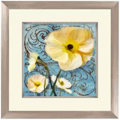 "White and Yellow Flowers I 18 1/2"" Wide Wall Art"